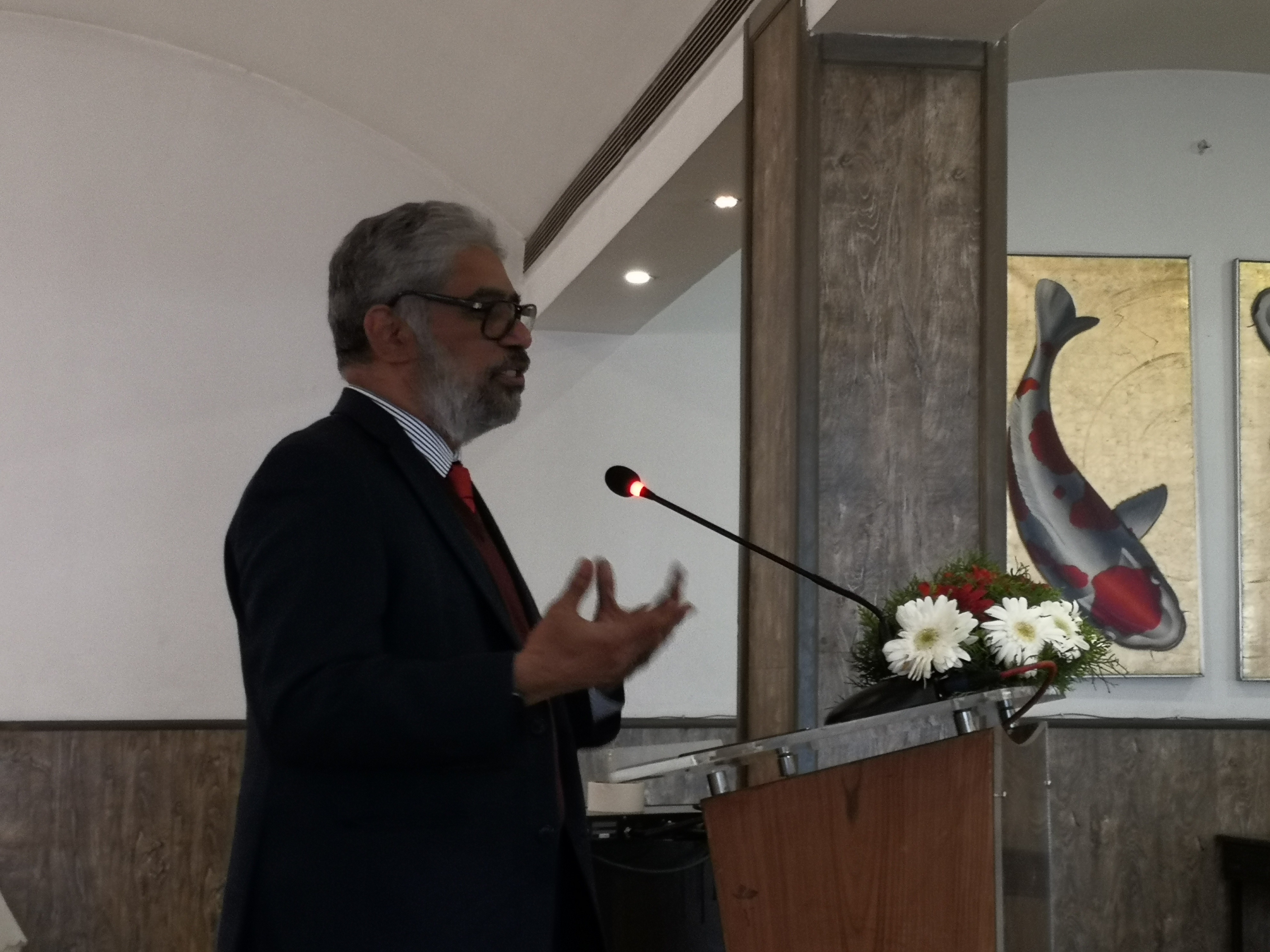 \'Prof. C. Raja Mohan speaks on Nepal and the New Asian Dynamics\' on Feb. 10, 2020 in Kathmandu.